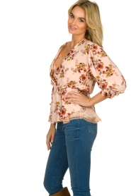 IRO |  Blouse with flower print Postie | nude  | Picture 4