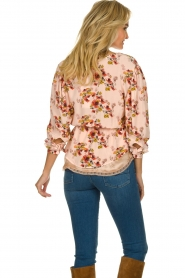 IRO |  Blouse with flower print Postie | nude  | Picture 5