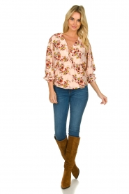 IRO |  Blouse with flower print Postie | nude  | Picture 3