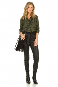 Bella Dahl |  Leopard printed blouse Hipster | green  | Picture 3