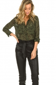 Bella Dahl |  Leopard printed blouse Hipster | green  | Picture 4