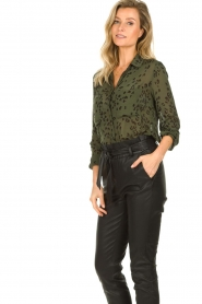 Bella Dahl |  Leopard printed blouse Hipster | green  | Picture 6