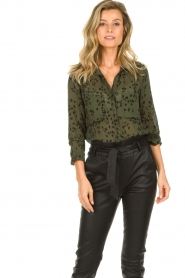 Bella Dahl |  Leopard printed blouse Hipster | green  | Picture 2