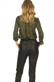Bella Dahl |  Leopard printed blouse Hipster | green  | Picture 7