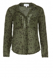 Bella Dahl |  Leopard printed blouse Hipster | green  | Picture 1