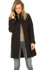 Krakatau |  Lined parka Urban chic | black  | Picture 2