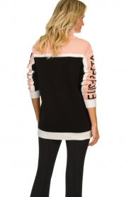 ELISABETTA FRANCHI |  Turtleneck sweater with logo print Eliza | light pink  | Picture 5