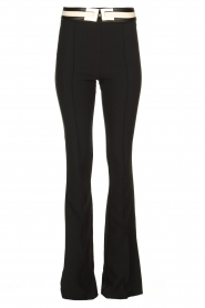 ELISABETTA FRANCHI | Flared trousers Loes | black  | Picture 1