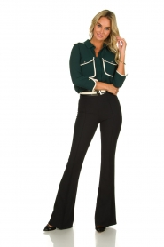 ELISABETTA FRANCHI | Flared trousers Loes | black  | Picture 3