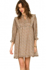 ba&sh |  Dress with silk Deep | naturel  | Picture 2
