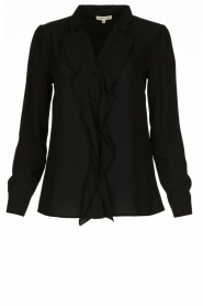 Kocca |  Blouse with ruffles Caretta | black  | Picture 1