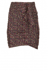 ba&sh |  Print skirt with silk Dina | black  | Picture 1