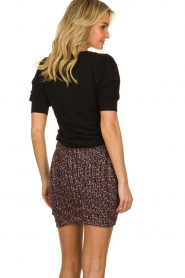 ba&sh |  Print skirt with silk Dina | black  | Picture 5