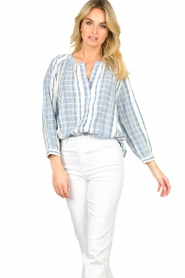 ba&sh |  Striped blouse East | blue  | Picture 6