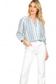 ba&sh |  Striped blouse East | blue  | Picture 6