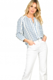 ba&sh |  Striped blouse East | blue  | Picture 2