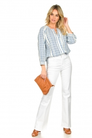ba&sh |  Striped blouse East | blue  | Picture 3