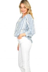 ba&sh |  Striped blouse East | blue  | Picture 4