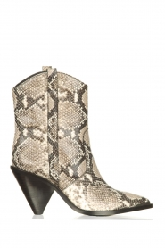 Toral |  Leather boots with snake print Elisio | animal print  | Picture 1