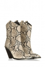 Toral |  Leather boots with snake print Elisio | animal print  | Picture 4