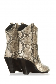 Toral |  Leather boots with snake print Elisio | animal print  | Picture 5
