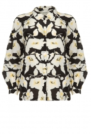 ba&sh    Floral blouse with silk Fantasy   black    Picture 1