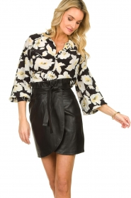 ba&sh    Floral blouse with silk Fantasy   black    Picture 2