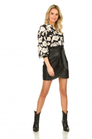 ba&sh    Floral blouse with silk Fantasy   black    Picture 3