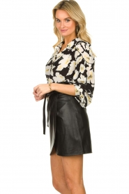 ba&sh    Floral blouse with silk Fantasy   black    Picture 4