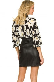 ba&sh    Floral blouse with silk Fantasy   black    Picture 5