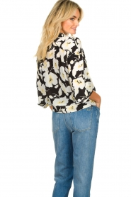 ba&sh |  Floral blouse with silk Fantasy | black  | Picture 7