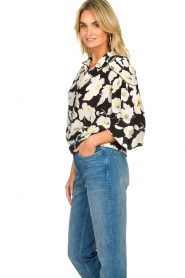 ba&sh |  Floral blouse with silk Fantasy | black  | Picture 6
