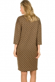 Les Favorites |  Print dress with lurex Ruth | brown  | Picture 6