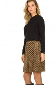 Les Favorites |  Print skirt with lurex Linda | brown   | Picture 4