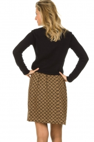 Les Favorites |  Print skirt with lurex Linda | brown   | Picture 5