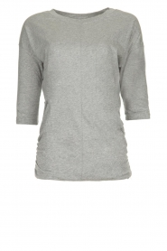 Les Favorites |  T-shirt with pleads Nathalie | grey   | Picture 1