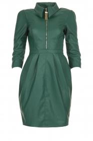 ELISABETTA FRANCHI |  Faux leather midi dress Tirza | green  | Picture 1