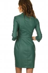ELISABETTA FRANCHI |  Faux leather midi dress Tirza | green  | Picture 5