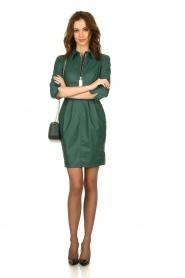 ELISABETTA FRANCHI |  Faux leather midi dress Tirza | green  | Picture 3