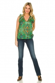ba&sh |  Sleeveless top with print | green  | Picture 3