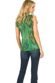 ba&sh |  Sleeveless top with print | green  | Picture 5