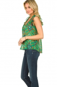 ba&sh |  Sleeveless top with print | green  | Picture 4