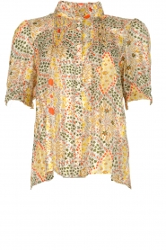 ba&sh |  Floral printed blouse Hippy | yellow  | Picture 1