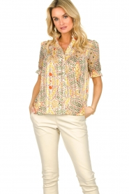 ba&sh |  Floral printed blouse Hippy | yellow  | Picture 2