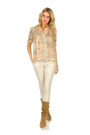 ba&sh |  Floral printed blouse Hippy | yellow  | Picture 3