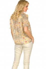 ba&sh |  Floral printed blouse Hippy | yellow  | Picture 5