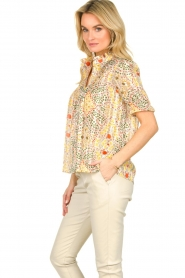 ba&sh |  Floral printed blouse Hippy | yellow  | Picture 4