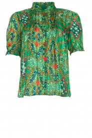 ba&sh |  Floral printed blouse Hippy | green  | Picture 1