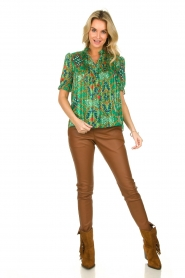 ba&sh |  Floral printed blouse Hippy | green  | Picture 3