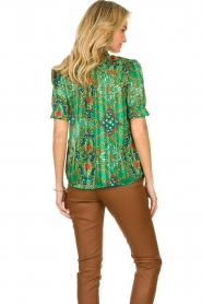 ba&sh |  Floral printed blouse Hippy | green  | Picture 5